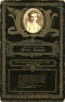 Memorial card for Mary Adams, 1910